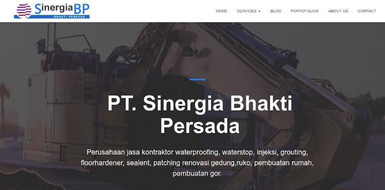 Tampilan website PT Sinergia Bhakti Persada