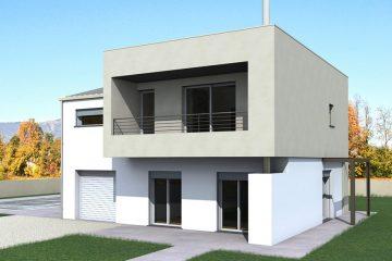 Ilustrasi Rumah Atap Beton