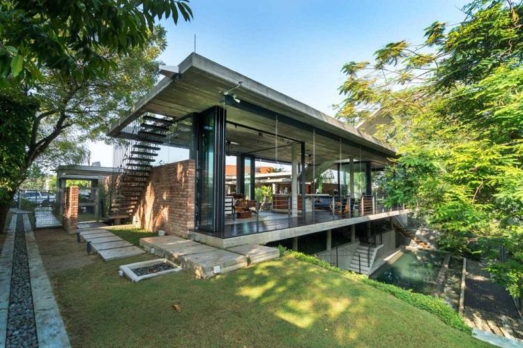 Karakteristik dari arsitektur tropis, Sumber: futurarc.com